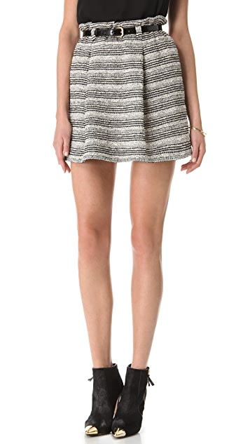 alice + olivia Paper Bag Stripe Skirt