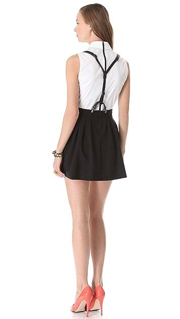 alice + olivia Dryden Suspender Dress