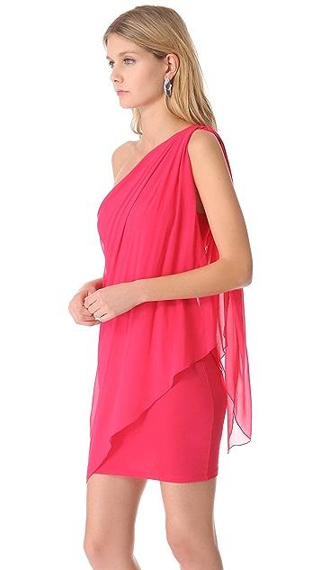 alice + olivia One Shoulder Draped Dress