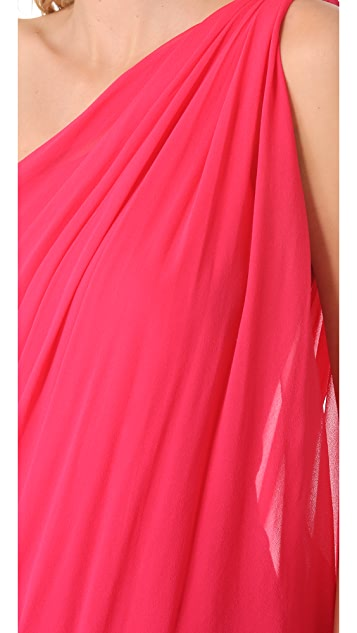 alice + olivia One Shoulder Draped Dress