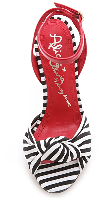 alice + olivia Petra Striped Sandals