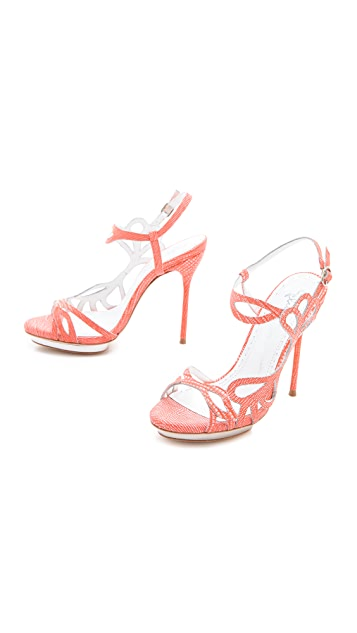 alice + olivia Phoebe Cutout Sandals