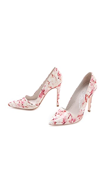 alice + olivia Dina Cherry Blossom Pumps