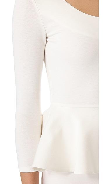 alice + olivia Amanda Peplum Dress