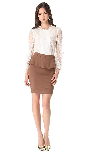 alice + olivia Natasha Peplum Skirt