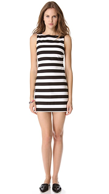 alice + olivia Striped A Line Dress
