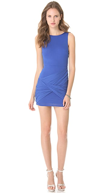 alice + olivia Draped Skirt Tank Dress