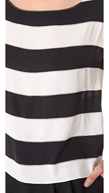 alice + olivia Picot Stripe Top