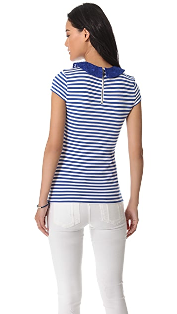 alice + olivia Peter Pan Collared Top