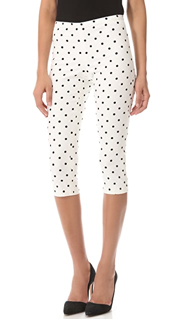 alice + olivia Polka Dot Capri Pants