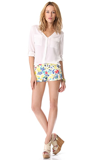 alice + olivia Cropped Floral Shorts