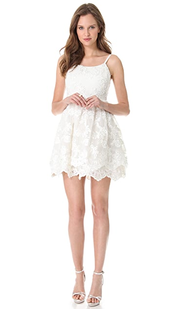 alice + olivia Poof Skirt Tank Dress