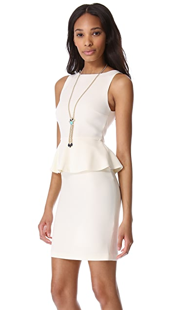 alice + olivia Tracey Peplum Dress
