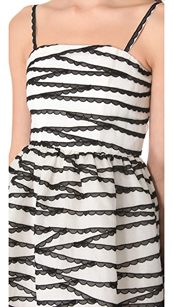 alice + olivia Embroidered Party Dress