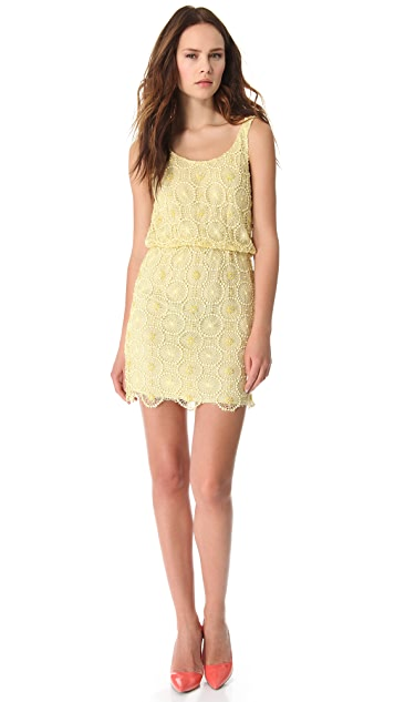 alice + olivia Beaded Blouson Dress