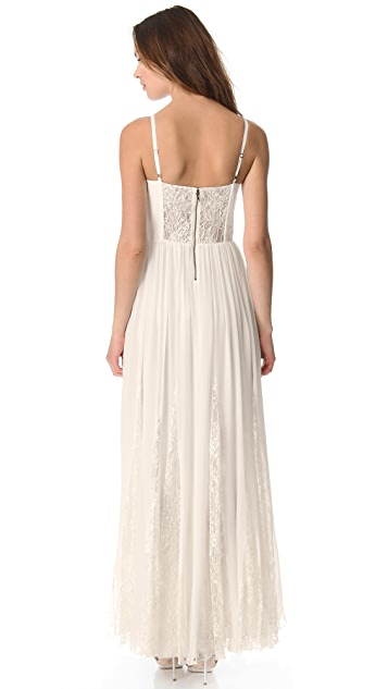 alice + olivia Flare Pleat Bustier Dress
