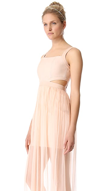 alice + olivia Sweetheart Cutout Dress