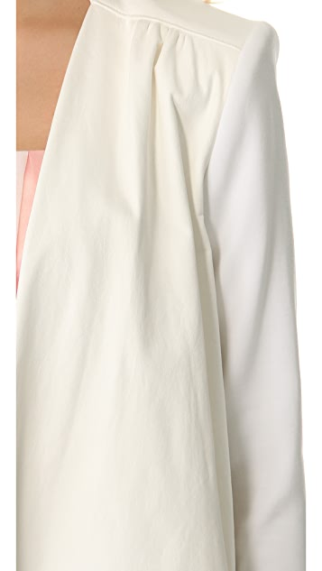 alice + olivia Drop Shoulder Leather Jacket