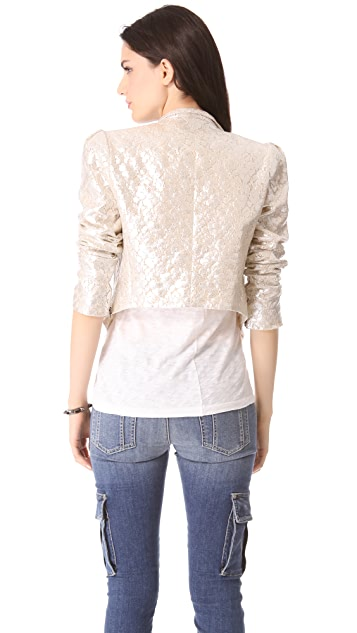 alice + olivia Lace Moto Jacket