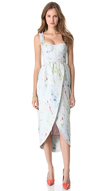 alice + olivia Puff Tulip Skirt Gown