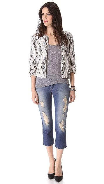 alice + olivia Raglan Embellished Jacket