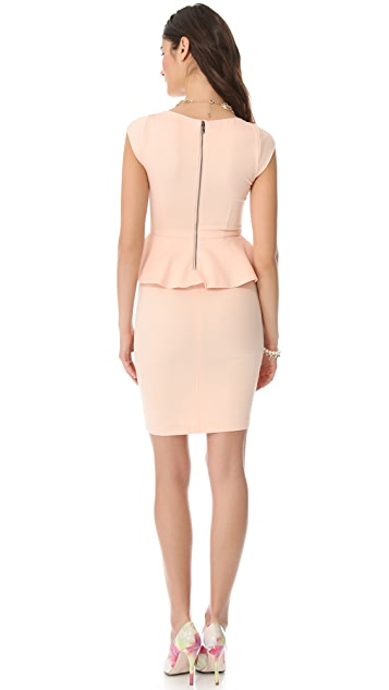 alice + olivia Victoria Peplum Dress