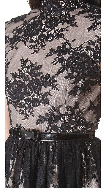 alice + olivia Jayna Open Back Dress