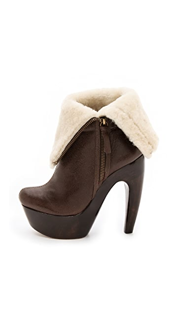 alice + olivia Anika Shearling Booties