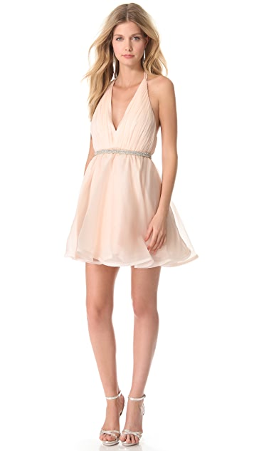 alice + olivia Brookie Halter Dress