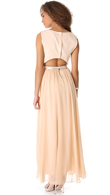 alice + olivia Triss Dress with Leather Band