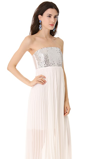 alice + olivia Shira Strapless Gown