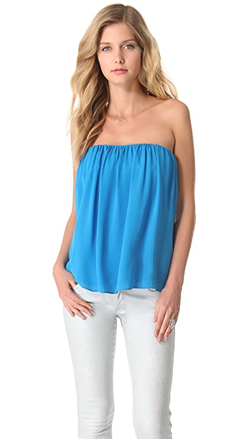 alice + olivia Scarlett Strapless Top