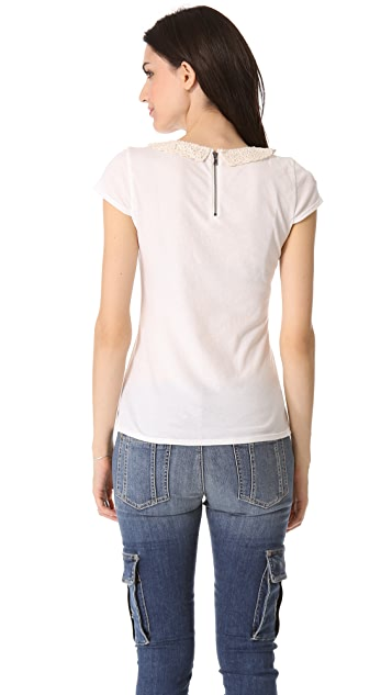 alice + olivia Anja Embellished Collar Top