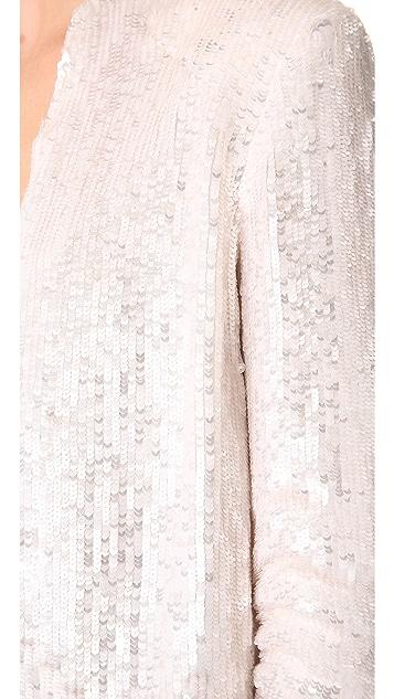 alice + olivia Wheeler Drape Jacket