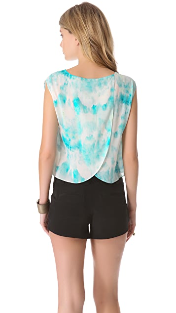 alice + olivia Cross Back Boxy Tee