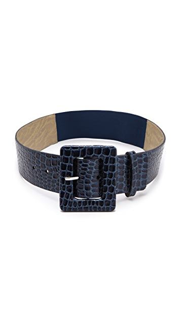 alice + olivia Snake Wide Belt