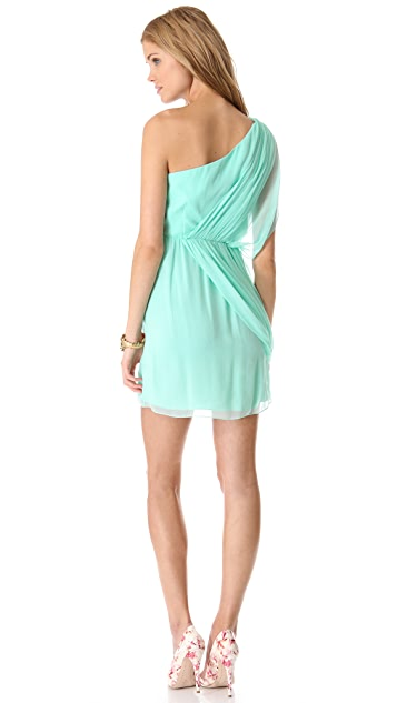 alice + olivia Wesson One Shoulder Dress
