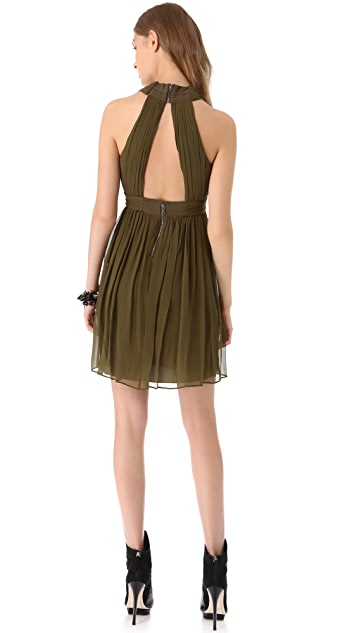 alice + olivia Caldwell Wrap Bodice Dress