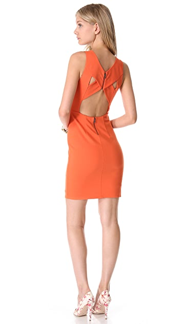 alice + olivia Tali Cross Back Dress