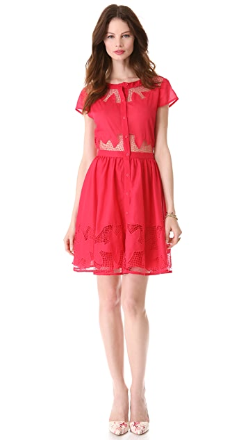 alice + olivia Papina Embroidered Shirtdress