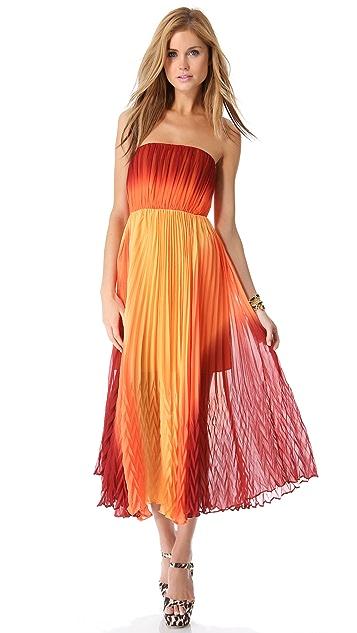 alice + olivia Uma Strapless Maxi Dress