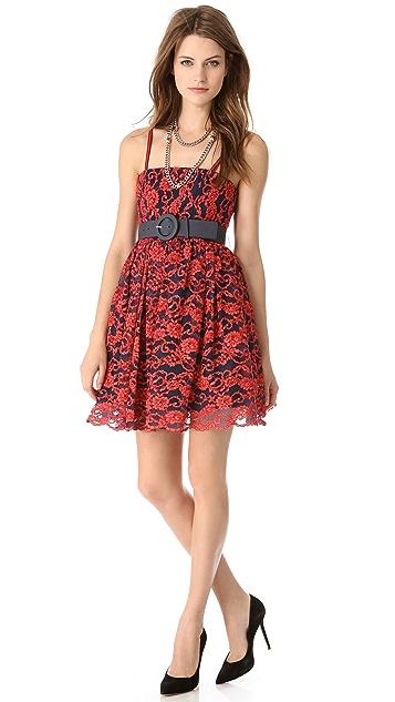 alice + olivia Sia Poof Lace Dress