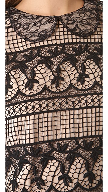 alice + olivia Peri Drop Waist Dress