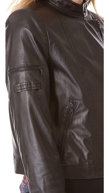alice + olivia Vivien Zip Moto Jacket