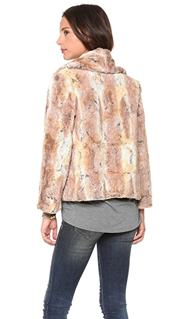 alice + olivia Annistyn Faux Fur Jacket