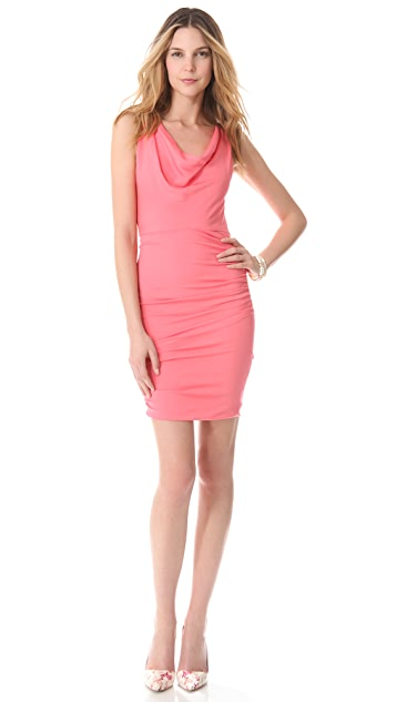 alice + olivia Esme Ruched Dress