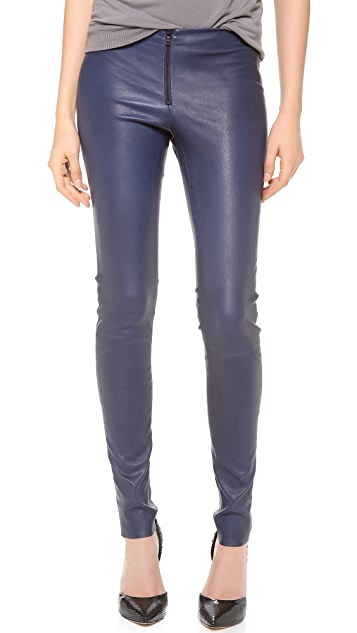 alice + olivia Zip Front Leather Leggings