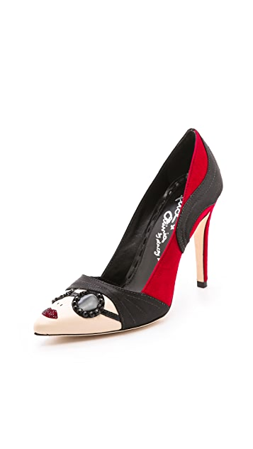 alice + olivia Stacey Face Pumps