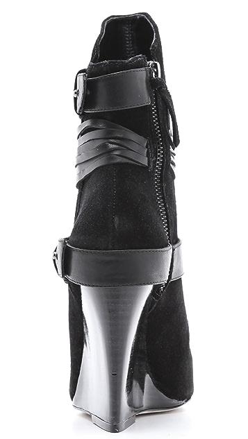 alice + olivia Owen Suede Wedge Boots