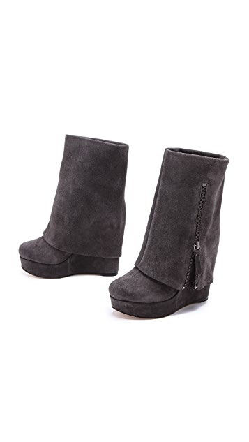 alice + olivia Yeardley Suede Cuff Boots